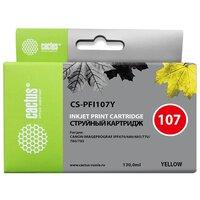Картридж для Canon ImagePrograf iPF670, iPF680, iPF685, iPF770, iPF780, iPF785 (Cactus CS-PFI107Y) (желтый) (130мл) - Картридж для принтера, МФУ