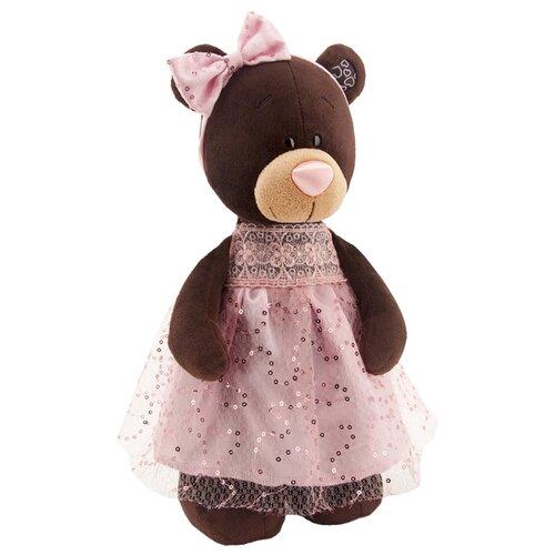 цены Мягкая игрушка Orange Toys Мишка Milk в платье с блёстками 30 см