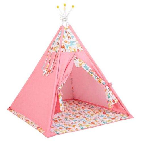 Купить Палатка Polini Жираф розовый, Игровые домики и палатки