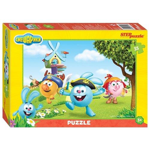 цена Пазл Step puzzle Пираты Крош, Бараш и Нюша, Смешарики (91146), 35 дет. онлайн в 2017 году