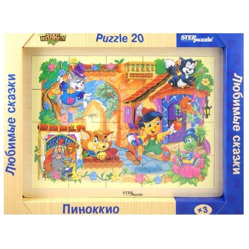 Рамка-вкладыш Step puzzle Любимые сказки Пиноккио (89713), деталей: 20Пазлы<br>