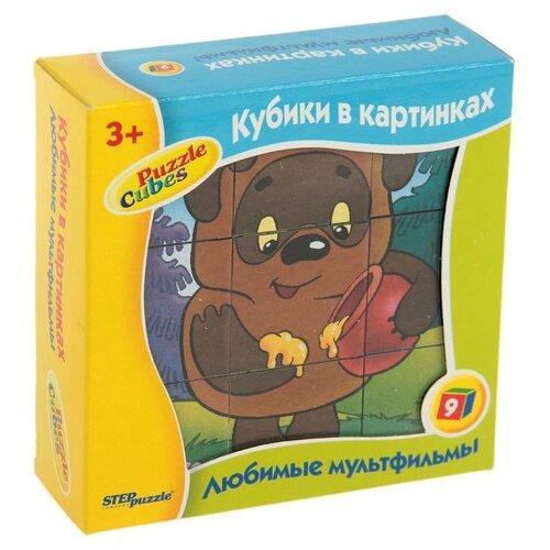 Кубики-пазлы СТЕП Любимые мультфильмы 87309Детские кубики<br>