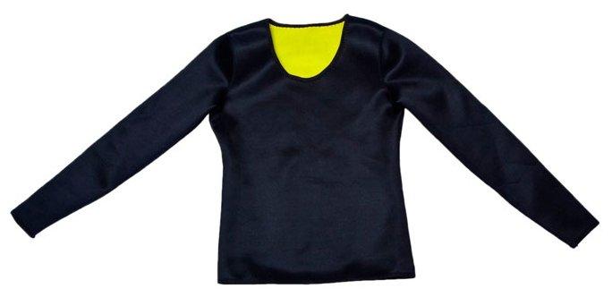 Футболка для похудения Hot Shapers с длинным рукавом M черный/салатовый