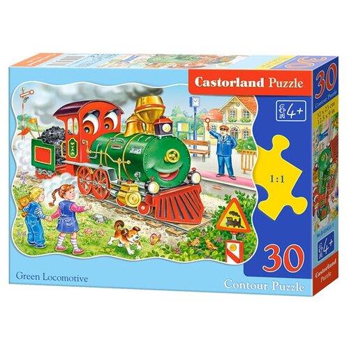 Купить Пазл Castorland Green Locomotive (B-03433), 30 дет., Пазлы