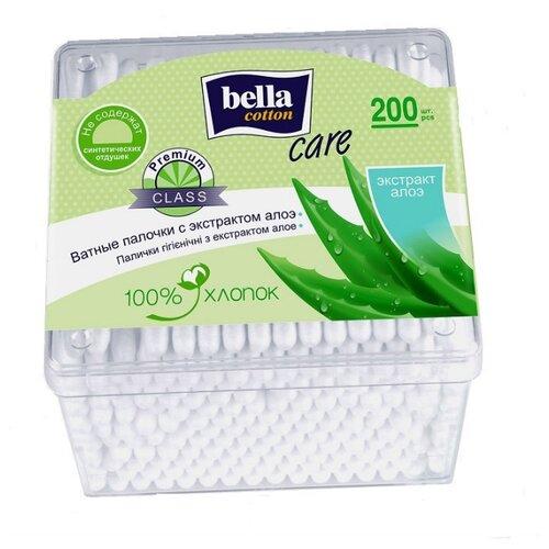 Ватные палочки Bella Cotton Care с экстрактом алоэ, 200 шт. диски ватные bella cotton care с экстрактом алоэ 100 шт