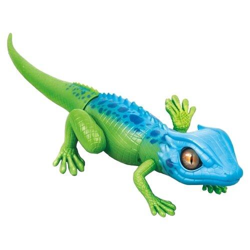 Купить Интерактивная игрушка робот ZURU Robo Alive Затаившаяся ящерица зеленый/голубой, Роботы и трансформеры
