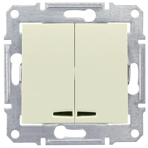 Выключатель 2х1-полюсныйвыключатель / переключатель Schneider Electric SEDNA SDN0300347,10А, бежевыйРозетки, выключатели и рамки<br>
