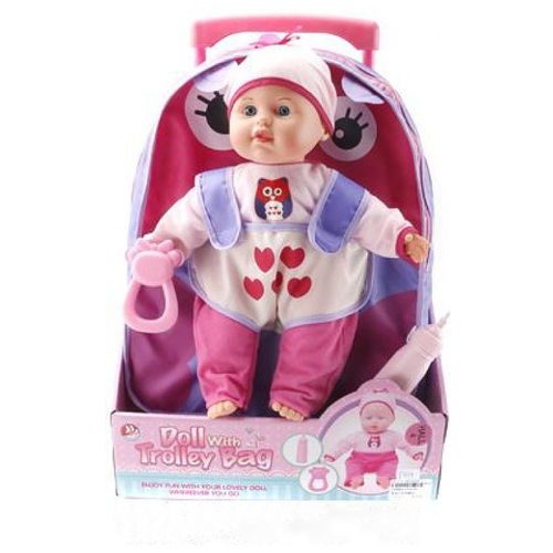 Кукла Shantou Gepai Doll with Trolley Bag 40 см F1639