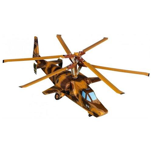 Сборная модель Умная Бумага Вертолет Черная Акула (098) 1:35 сборная модель умная бумага двухосная цистерна 25 м3 нефть черная 386 2 1 87