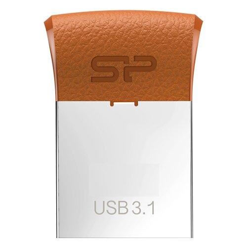 Фото - Флешка Silicon Power Jewel J35 16GB коричневый / серебристый флеш диск silicon power 16gb jewel j01 sp016gbuf3j01v1r usb3 1 серебристый красный