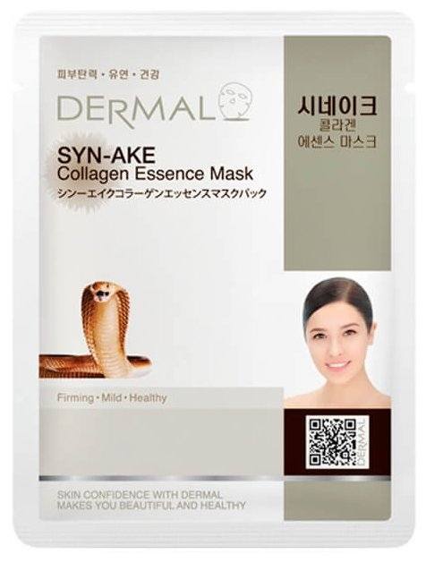 DERMAL Syn-Ake Collagen Essence Mask Тканевая маска с коллагеном и змеиным ядом
