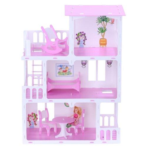 KRASATOYS Домик Маргарита 000273, бело-розовыйКукольные домики<br>