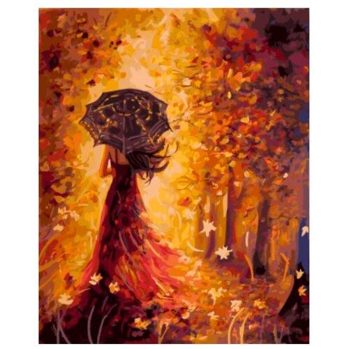 """Цветной Картина по номерам """"Осенняя фея"""" 40х50 см (GX5582)"""
