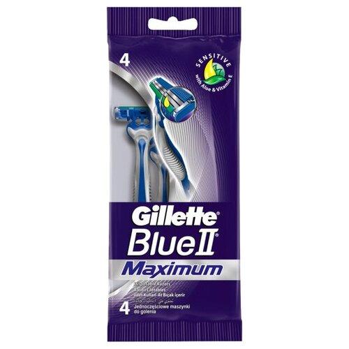 Бритвенный станок Gillette Blue II Maximum, 4 шт.