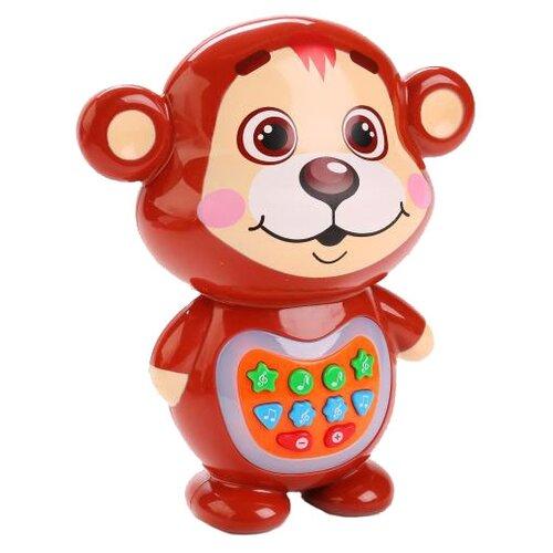 Интерактивная развивающая игрушка Умка Медвежонок-сказочник (TT621-2-R) коричневый развивающая игрушка 52431 коричневый