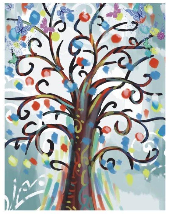 Цветной Набор алмазной вышивки Дерево волшебных пожеланий (LGP013) 40х50 см