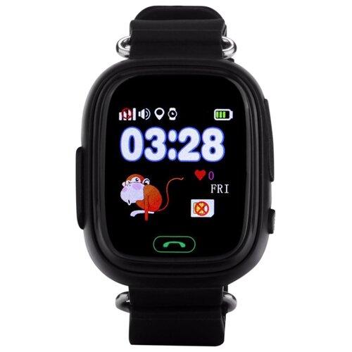 Детские умные часы c GPS Smart Baby Watch Q80 черный детские умные часы smart baby watch q80 желтый