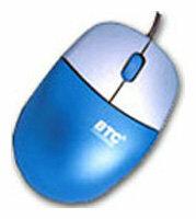 Мышь BTC M852 Blue-Silver PS/2