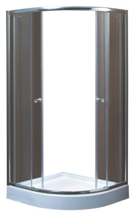 Душевой уголок Saniteco SN-M-T-80 низкий поддон 80см*80см