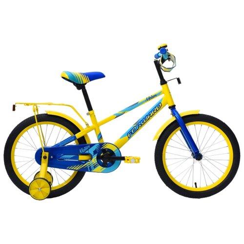 цена на Детский велосипед FORWARD Meteor 18 (2018) желтый (требует финальной сборки)