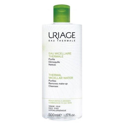 Uriage мицеллярная вода очищающая для жирной и комбинированной кожи, 500 мл uriage мицеллярная вода очищающая для чувствительной склонной к покраснению кожи 100 мл