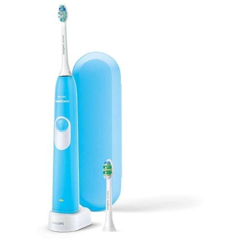 цена на Звуковая зубная щетка Philips HX6212/87, синий
