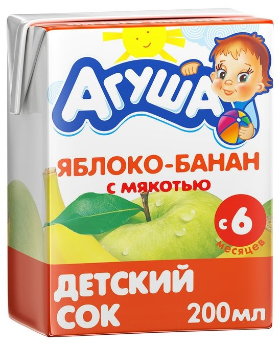 Агуша яблоко банан цена