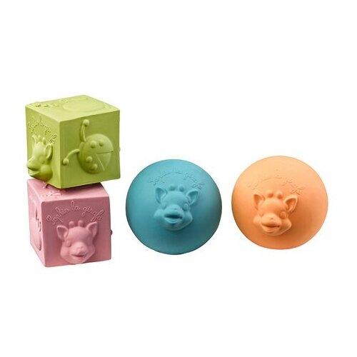 Набор Vulli Кубики и мячики 220119 разноцветныйПогремушки и прорезыватели<br>