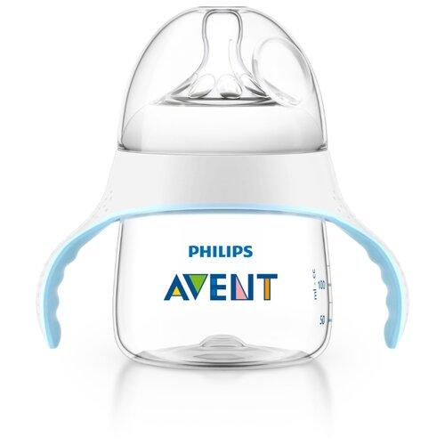 Philips AVENT Тренировочный набор Natural SCF251/00 150 мл с 4 мес., белый/голубой