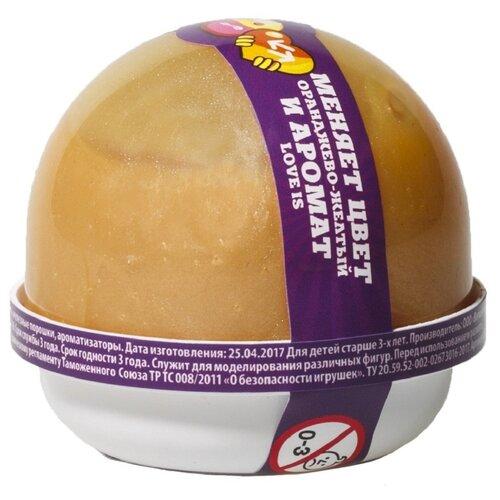 Купить Жвачка для рук NanoGum оранжево-желтая с ароматом Love is 25 гр (NG2LI25), Игрушки-антистресс