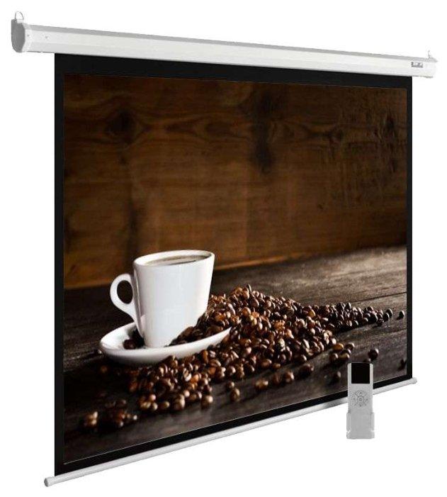 Рулонный матовый белый экран cactus MotoExpert CS-PSME-300x300-WT