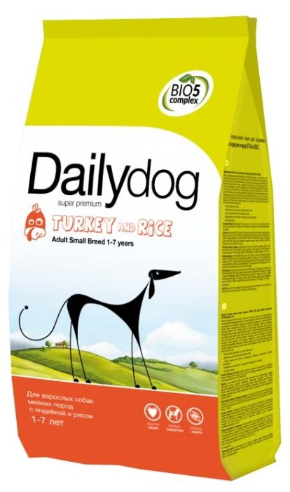 Корм для собак Dailydog Adult Small Breed Turkey and Rice