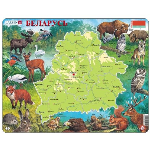 Купить Рамка-вкладыш Larsen Беларусь (K56), 72 дет., Пазлы