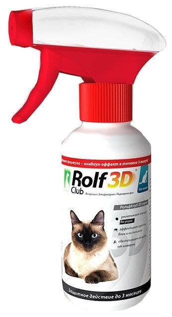 Спрей ROLF CLUB 3D от клещей и блох для кошек 200мл