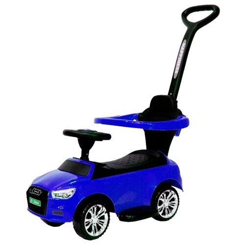 Купить Каталка-толокар RiverToys Audi JY-Z06A со звуковыми эффектами синий, Каталки и качалки