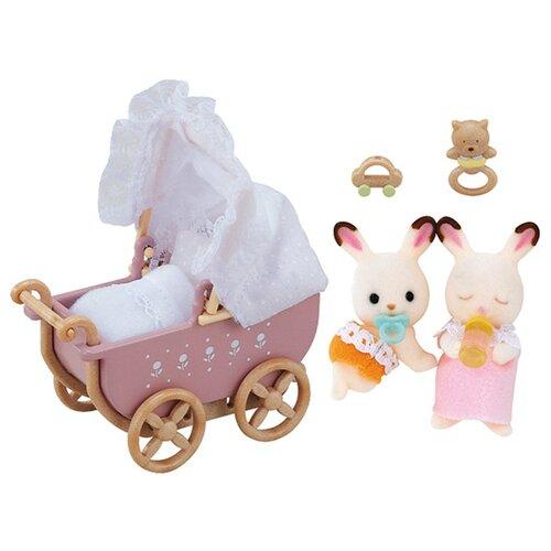 Купить Игровой набор Sylvanian Families Двойняшки в коляске 2206/5018, Игровые наборы и фигурки