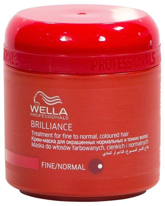 Wella Professionals BRILLIANCE Крем-маска для окрашенных нормальных и тонких волос