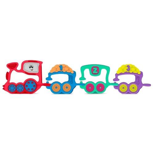 Погремушка Chicco Поезд 7681 красный/голубой/зеленый chicco погремушка ключи на кольце голубая chicco