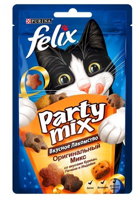 Лакомство для кошек Felix Party Mix Оригинальный микс со вкусом курицы, печени и индейки