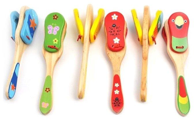 Мир деревянных игрушек кастаньеты Д312 большие