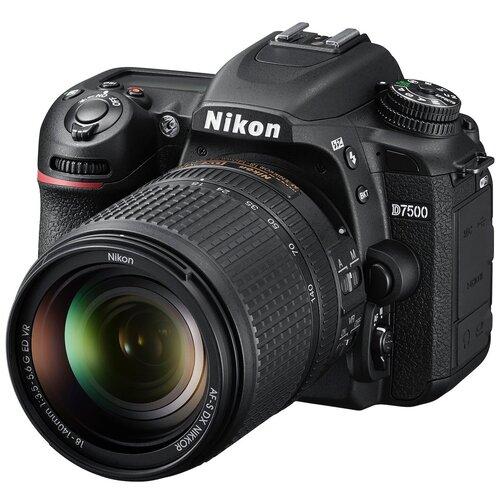 Фото - Фотоаппарат Nikon D7500 Kit черный AF-S DX NIKKOR 18-140mm 1:3.5-5.6 G ED VR объектив nikon nikkor af s 18 300 mm f 3 5 6 3 g ed dx vr
