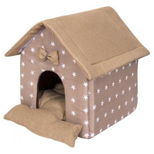 Фото - Домик для собак и кошек HutPets LittleHouse 45х40х45 см coffee stars лежак для собак и кошек hutpets minicot s 50х45 см coffee stars