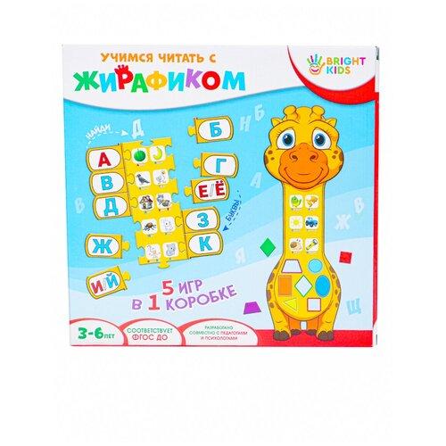 Фото - Настольная игра Рыжий кот Bright Kids. Учимся читать с жирафиком bright kids развивающая игра угадайки рыжий кот ин 7617 рк