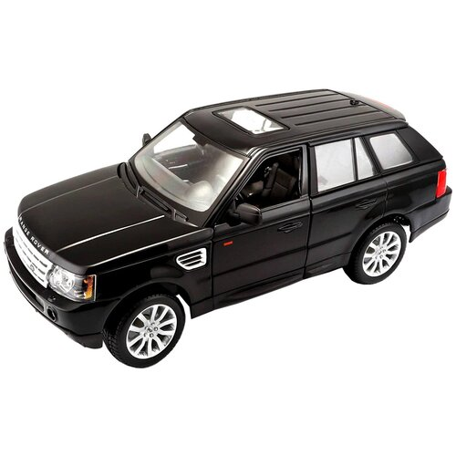 Фото - Легковой автомобиль Bburago Range Rover Sport (18-12069) 1:18, 28 см, черный легковой автомобиль rastar land rover range rover sport 30300 1 24 21 см красный