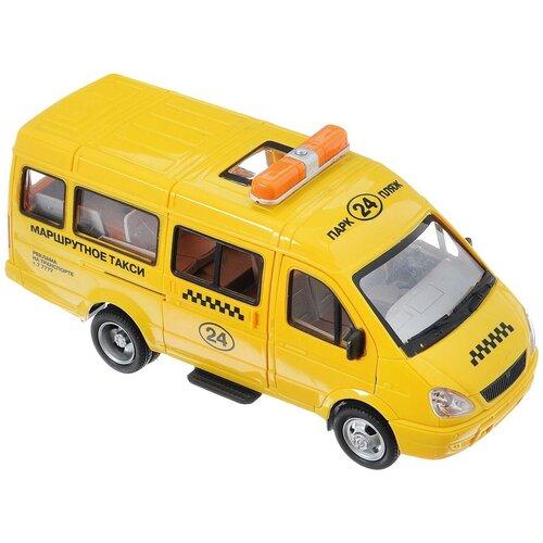 Купить Микроавтобус Play Smart Автопарк 3221 Такси (9098-E), 20 см, желтый, Машинки и техника