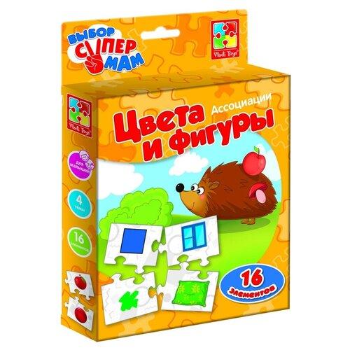 Фото - Настольная игра Vladi Toys Ассоциации Цвета и фигуры VT1901-38 настольная игра vladi toys мир машин