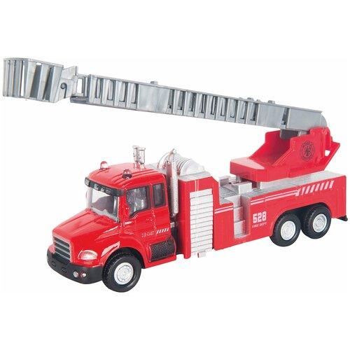Купить Пожарный автомобиль Autogrand с лестницей (34123) 1:48, 15 см, красный/белый, Машинки и техника