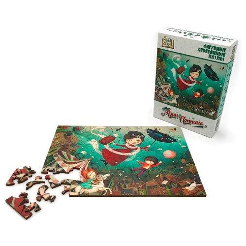 Купить Пазл Нескучные игры Страна сказок Мэри Поппинс 81 деталей, фигурный, деревянный, Пазлы