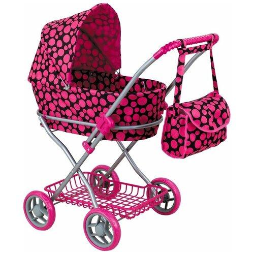 Купить Коляска-люлька Buggy Boom Mixy (8019) черный/розовый горох, Коляски для кукол