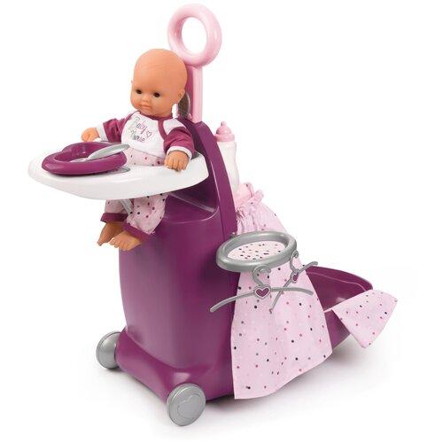 Baby Nurse Набор для кормления и купания пупса в чемодане Smoby размер 26х47х62 см 220346, Мебель для кукол  - купить со скидкой